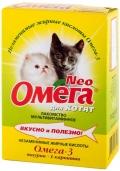 Омега Нео - мультивитаминное лакомство с таурином и L-каринтином для котят (60 таб.)