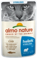 Almo Nature Holistic Sterilised - паучи для кастрированных кошек с треской (70 г)