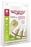 Mr. Bruno - Грин Гард капли отпугивающие внешних паразитов для щенков и меленьких собак весом до 10 кг (3 пипетки по 1 мл)