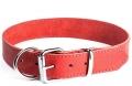 """Gripalle - Ошейник для собак из натуральной кожи """"Дакс"""" (2,5 x 35 см) стальная фурнитура, красный"""