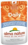 Almo Nature Daily - паучи для кошек с треской и креветками (70 г)