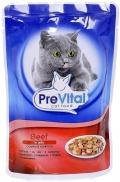 PreVital - Классик паучи для кошек в желе с говядиной (100 г)