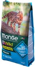 Monge BWild Grain Free - сухой беззерновой корм для стерилизованных кошек с тунцом и горохом